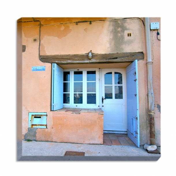 Leinwandprint Strandhaus