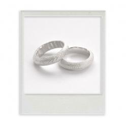 """Ring """"Ossa Sepia"""" white"""