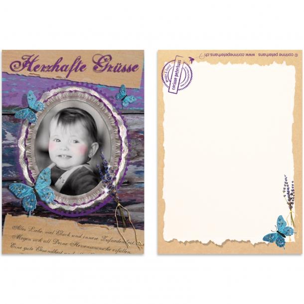 "Postkarte ""Herzhafte Grüsse"""