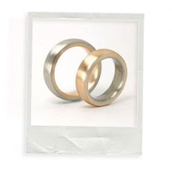 "Ringe "" inside out"" Gold"