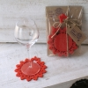 Coaster flying butterfly red