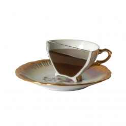 "Porcelaine white gold ""espresso"""